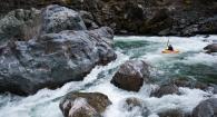 Joe Kemper kayaking in the Opal Creek Wilderness.