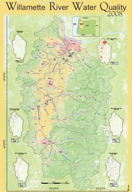 Willamette Water Quality Map